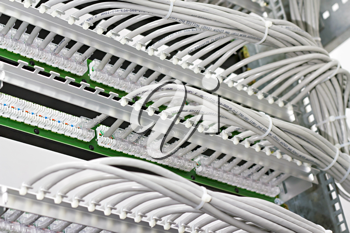 Royalty Free Photo of Wiring Panels