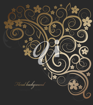 Design vector background with floral ornate