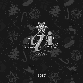 Abstract Cute Holiday Christmas Seamless Pattern