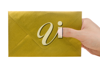 Royalty Free Photo of a Person Holding an Envelope