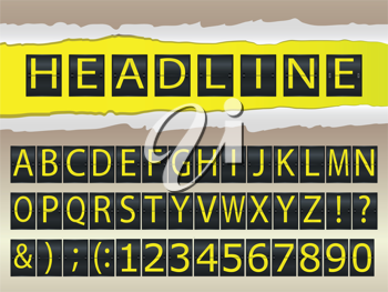 Royalty Free Clipart Image of Letters