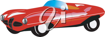 Royalty Free Clipart Image of a Classic Car