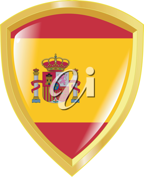 Coat of arms in national colours of Spain