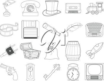 set of different home related objects