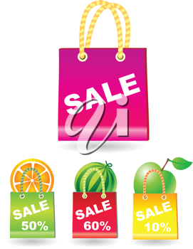 Royalty Free Clipart Image of a Set of Shopping Bags