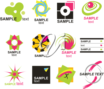 Royalty Free Clipart Image of a Set of Design Elements
