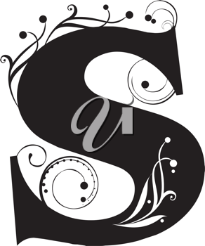 Royalty Free Clipart Image of a Letter