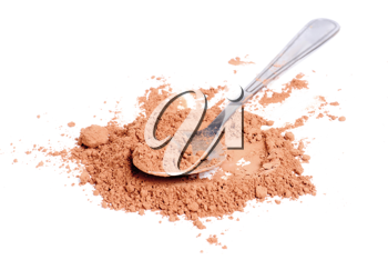 Royalty Free Photo of a Spoon and Cocoa