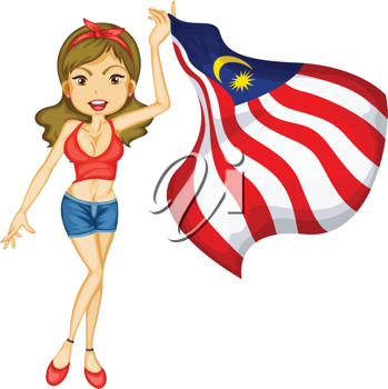 Illustration of a patriotic woman
