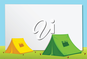 White paper template with tents