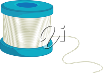 Illustration of fishing line on a coil