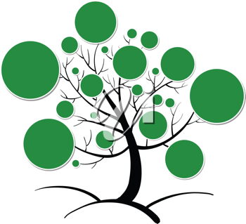 illustration of tree clipart on a white background