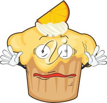 illustration of a cupcake on a white background