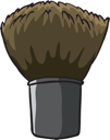 Illustration of a hard cleaning brush on a white background