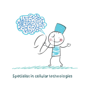 Specialist in cellular technologies thinks of cells