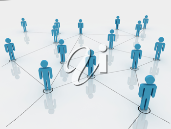 Royalty Free Clipart Image of a Network of People