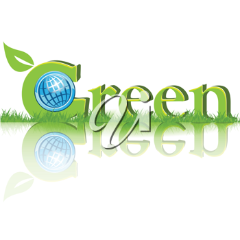 Royalty Free Clipart Image of the Word Green