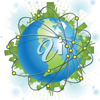 Royalty Free Clipart Image of a Planet