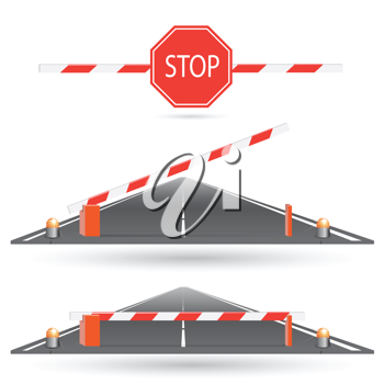 Royalty Free Clipart Image of Road Barriers