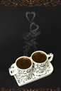 Royalty Free Photo of Cups of Coffee
