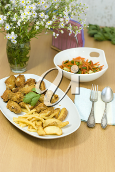 Royalty Free Photo of a Meal
