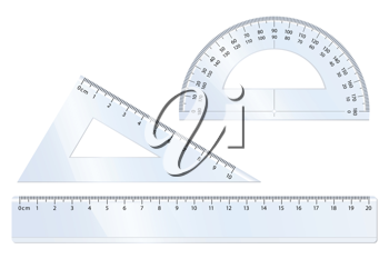 Royalty Free Clipart Image of a Geometry Set