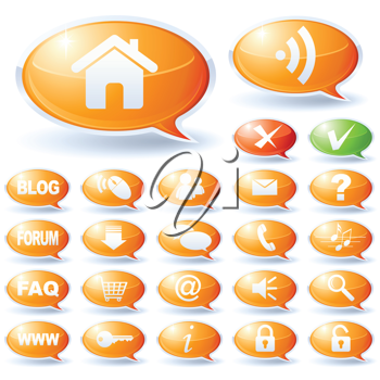 Royalty Free Clipart Image of Internet Speech Bubbles