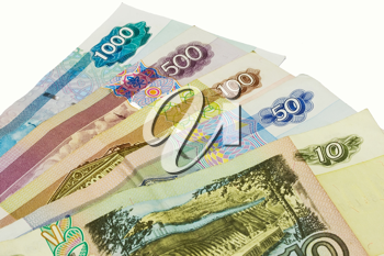 Royalty Free Photo of a Rubles Bank Notes