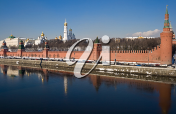 Royalty Free Photo of the Kremlin and Churches