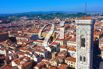 Beautiful view from Duomo of Florence, Tuscany, Italy.