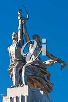 Monument Worker and Kolkhoz Woman in  Moscow. Russia