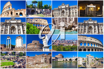 Collection of beautiful photos in Rome, Italy