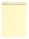 Royalty Free Photo of a Blank Coiled Notepad
