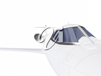 Royalty Free Clipart Image of a Jet