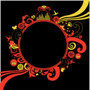 Royalty Free Clipart Image of a Funky Frame