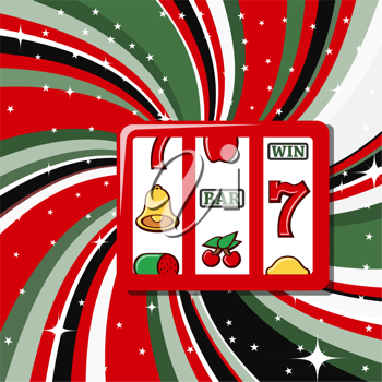 Royalty Free Clipart Image of a Slot Machine Background