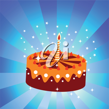 Royalty Free Clipart Image of a Birthday Cake