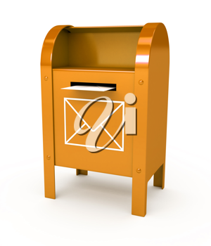 Royalty Free Clipart Image of a Mailbox