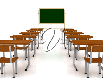 Royalty Free Clipart Image of a Classroom