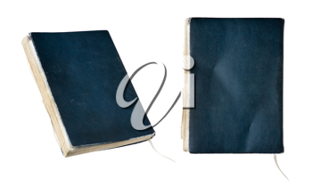 Leather old notebook from two angles