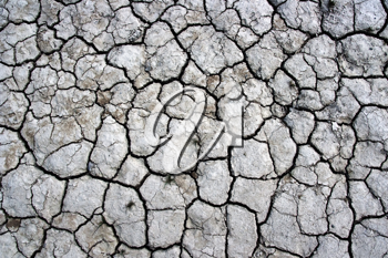 A cracked dry ground texture
