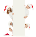 Royalty Free Photo of a Christmas Family Portrait