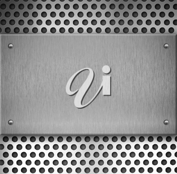 Royalty Free Photo of a Metal Plate
