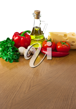 Royalty Free Photo of a Table of Vegetables