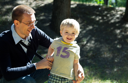 Royalty Free Photo of a Boy and Father
