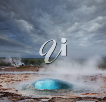 Royalty Free Photo of a Geyser in Iceland