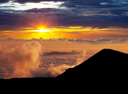 Royalty Free Photo of a Sunset on  Mauna Kea, Hawaii