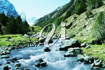 Royalty Free Photo of a Mountain River