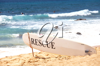 Royalty Free Photo of a Rescue Post in Hawaii