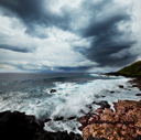 Royalty Free Photo of a Stormy Ocean